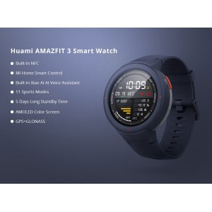 Xiaomi Mi Amazfit 3 Verge Huami Smart Watch Smartwatch ENGLISH