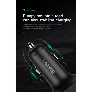 Baseus FM Transmitter Modulator Handsfree Bluetooth MP3 Car Charger 3.4a Dual USB S-09A