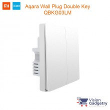 Xiaomi Mi Aqara Smart Home Wall Switch Plug Two Gang ZigBee QBKG03LM