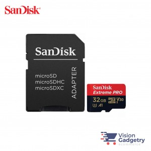 SanDisk Extreme PRO Micro SD Memory Card 32GB 100MB/s A1 Class 10 with Adapter