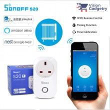 Sonoff Smart Home S20 Smart Socket UK Plug Wifi Wireless App Control Amazon Google