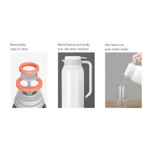 Xiaomi Viomi 1.5L Thermos Thermal Flask Mug Stainless Steel White