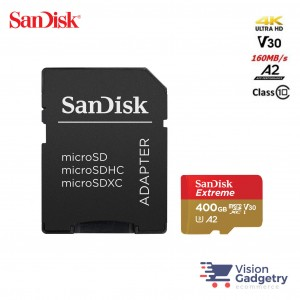 SANDISK Extreme Class 10 Micro SD Card 4K A2 V30 160MBS 400GB