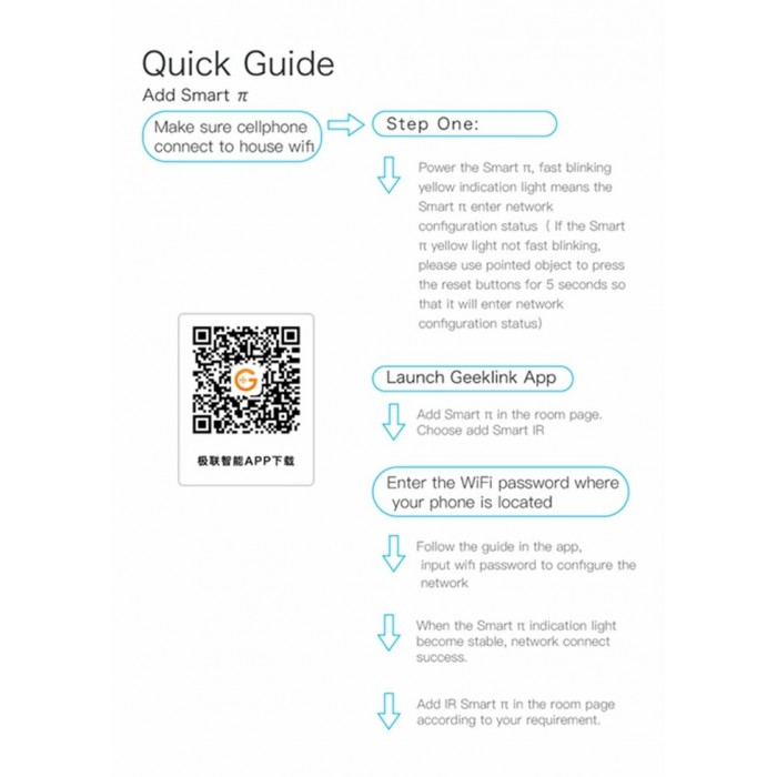 Geeklink Smart Home WiFi Universal IR Infrared Remote