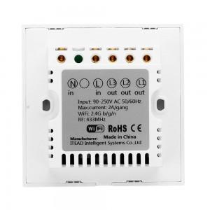 Sonoff Smart Home T1 Wall Switch Plug Wifi RF Touch Panel Alexa 1 Single Gang