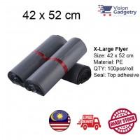 Courier Flyer Bag Beg Kurier Packing Plastic Bag Poslaju Gdex DHL X-Large 42 x 52cm 100pcs