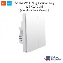 Xiaomi Mi Aqara Smart Home Wireless Switch Plug Double Gang ZigBee QBKG12LM Zero FIRE Version