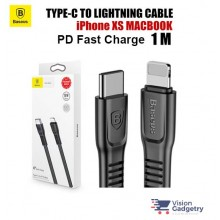 Baseus Tough USB Type C to iPhone Lightning PD Cable 18W Black