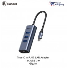 Baseus Enjoy Type C to RJ45 LAN 3X USB 3.0 Adapter Converter Hub Gigabit
