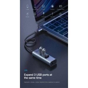 Baseus Enjoy Type C to RJ45 LAN 3X USB 3.0 Adapter Converter Hub Gigabit