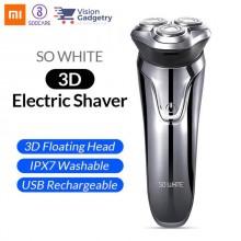 Xiaomi So White ES3 3D Electric Shaver Razor Wireless IPX7