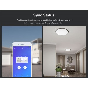 Sonoff Smart Home TX T3UK2C Wall Switch Plug Wifi RF Touch Panel Alexa 2 Double Gang
