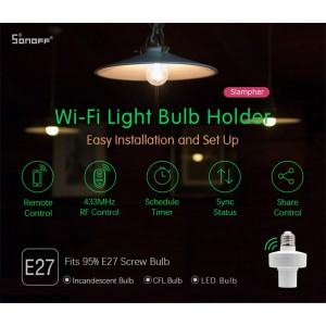 Sonoff Slampher RF Smart Home Wifi Wireless Switch E27 Bulb Socket 433MHz