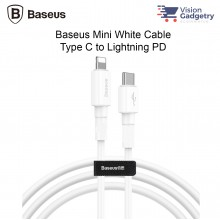 Baseus Mini White Cable Type C to Lightning PD USB Data Sync Cable Fast Charge