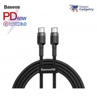 Baseus Cafule Type C to Type C PD 2.0 QC3.0 3A 60W USB Data Sync Cable 1M