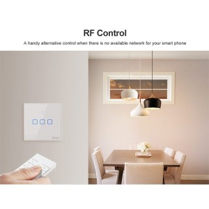 Sonoff Smart Home Wall Switch Plug T2 Wifi RF Touch Panel 1 Single Gang TXT2UK1C
