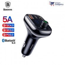 Baseus FM Transmitter Modulator Handsfree Bluetooth MP3 Car Charger S-13 36W
