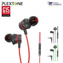 Plextone G15 Gaming Earphone Headset In-ear Earbud Anti Noise w Mic