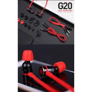 Plextone G20 Gaming Earphone Headset In-ear Earbud Magnetic w Mic (3.5mm)