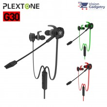 Plextone G30 Gaming Earphone Headset In-ear Earbud Noise Cancellation w Mic