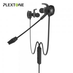 Plextone G30 Gaming Earphone Headset In-ear Earbud Noise Cancellation w Mic
