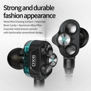 Plextone DX6 Gaming Earphone Headset In-ear Earbud 3 Hybrid Drivers Detachable (3.5mm)