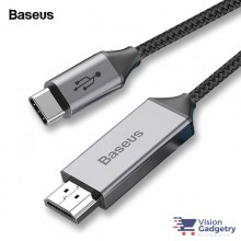 Baseus Type C to HDMI Phone Converter Hub Video Adapter Cable 4K 60Hz