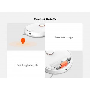 Xiaomi Robot Vacuum 2in1 Mop Vacuum LDS 2100pa Black STYTJ02YM White
