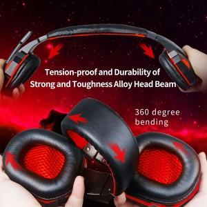 Plextone PC780 Gaming Headphone Earphone Double Bass HD Mic LED Noise Cancellation