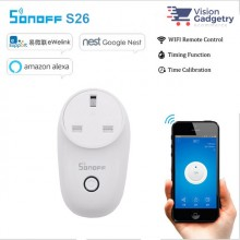 Sonoff Smart Home S26 Smart Socket UK Plug Wifi Wireless App Control Amazon Google