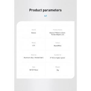 Baseus L3.5 iPhone Audio Adapter Converter Lightning to 3.5mm CALL3-01
