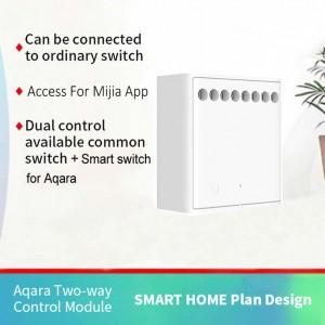 Xiaomi Mi Aqara Smart Home Wireless Relay Controller Smart Switch 2 Channels LLKZMK11LM