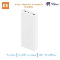 Xiaomi Powerbank 3 Power Bank 20000mah Fast Charge Output Type C PLM18ZM