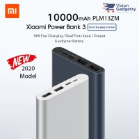 Xiaomi Mi Power Bank Powerbank 3 10000mah QC3.0 Dual USB 18W PLM13ZM