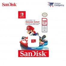 SanDisk Nintendo Switch Micro SD Class 10 U3 100mbs 128GB SDSQXAO-128G-GNCZN