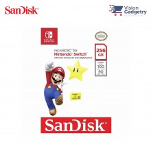SanDisk Nintendo Switch Micro SD Class 10 U3 100mbs 256GB SDSQXAO-256G-GNCZN