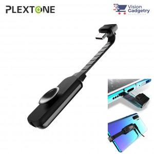 Plextone GS1 Virtual 7.1 Channel USB Type C to 3.5mm Sound Card Adapter Gaming