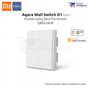 Xiaomi Aqara Smart Home Switch D1 Wall Plug Double Gang Zero Fire ZigBee QBKG24LM
