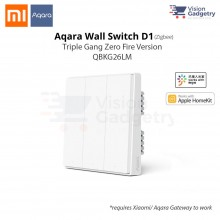Xiaomi Aqara Smart Home Switch D1 Wall Plug Triple Gang Zero Fire ZigBee QBKG26LM