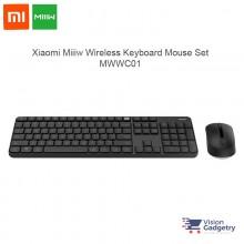 Xiaomi Miiiw Wireless Keyboard Mouse Set 104 keys 2.4ghz IPX4 Splashproof MWWC01