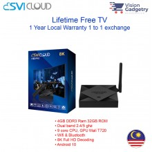 Svi Cloud 3 PRO Android TV Box Lifetime IPTV MSIA 4GB RAM 32GB ROM