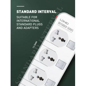 LDNIO SC4408 Power Strip 4 Universal Socket with 4 USB Output 3.4A 2500w
