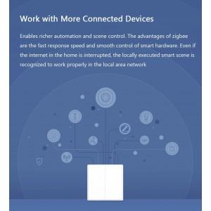 Xiaomi Aqara Smart Home Switch D1 Wireless Switch Double Gang ZigBee WXKG07LM