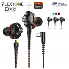 Plextone DX6 Gaming Earphone Headset In-ear Earbud 3 Hybrid Drivers Detachable (Type C)