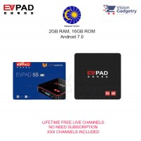 EVPAD 5S Malaysia Version Android TV Box Lifetime IPTV MSIA CDN Server