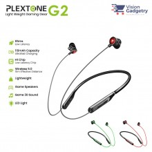 Plextone G2 Bluetooth 5.0 Earphone Headset Neckband Gaming LED Light Virtual 7.1CH IPX5