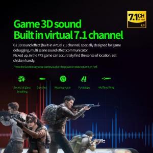 Plextone G2 Bluetooth 5.0 Earphone Headset Neckband Gaming LED Light Virtual 7.1CH IPX5