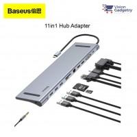 Baseus Enjoyment Type C Hub Adapter Converter 4K PD Charging 60w Dual HDMI 11in1 CATSX-G0G