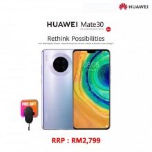 Original Huawei Mate 30 8GB RAM 128GB ROM 1 Year Huawei Malaysia Warranty (Space Silver)
