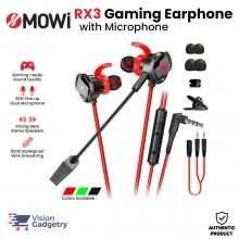 XMOWI RX3 Gaming Earphone Headset In-ear Earbud Microphone Plextone